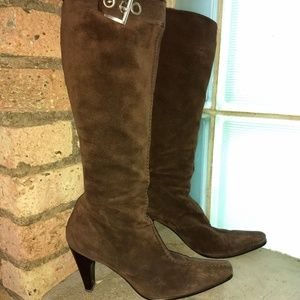 Gorgeous suede Prada knee length boots